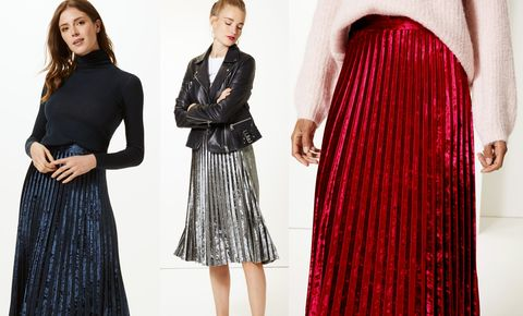 Marks & Spencer velvet midi skirt