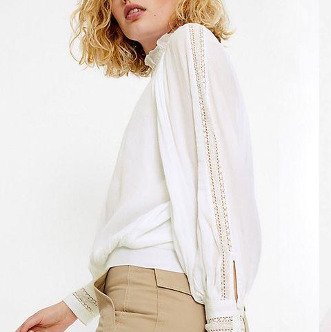 Marks & Spencer white summer blouse