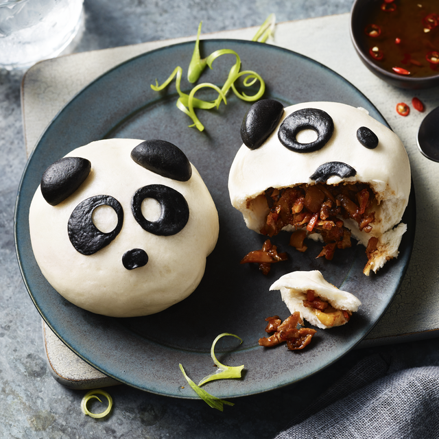 marks and spencer food range now features these adorable panda steamed buns