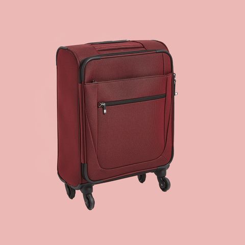 Suitcase, Hand luggage, Red, Product, Maroon, Brown, Baggage, Luggage and bags, Bag, Furniture,