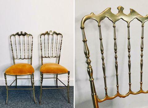 Chair, Furniture, Chiavari chair, Windsor chair, Antique, Metal,
