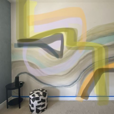 markup paint on room wall