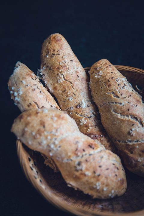 Food, Baguette, Dish, Cuisine, Bread, Ingredient, Breadstick, Snack, Baked goods, Produce,