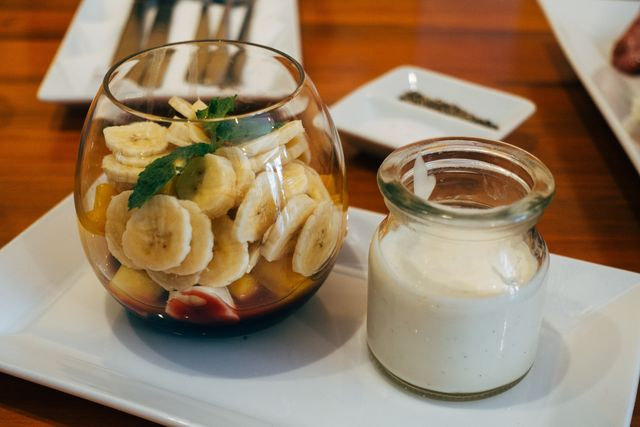 bananen met yoghurt