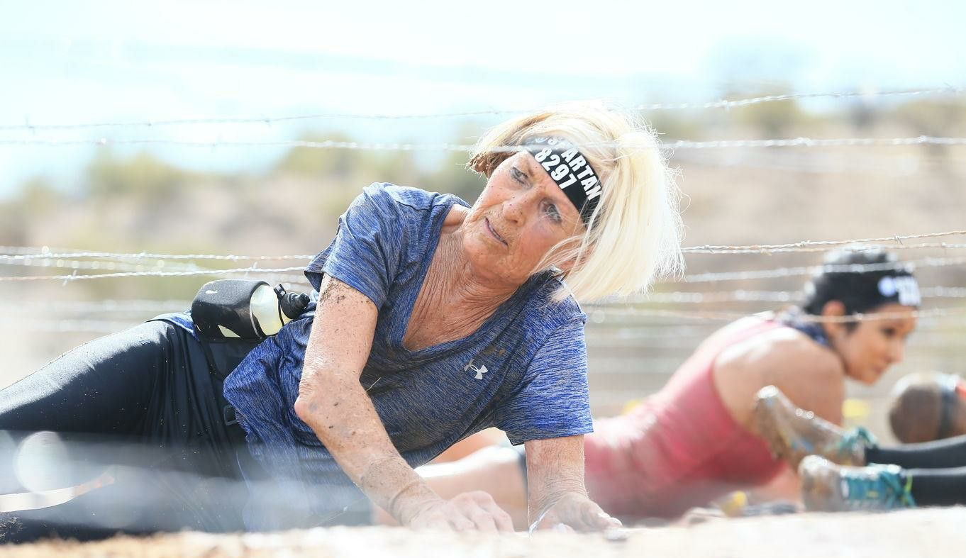 73-Year-Old Spartan Racer Doesn't Let Her Age Hold Her Back