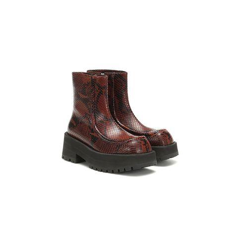 snake print boots - marni