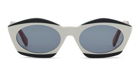 gafas de sol blancas y negras de marni