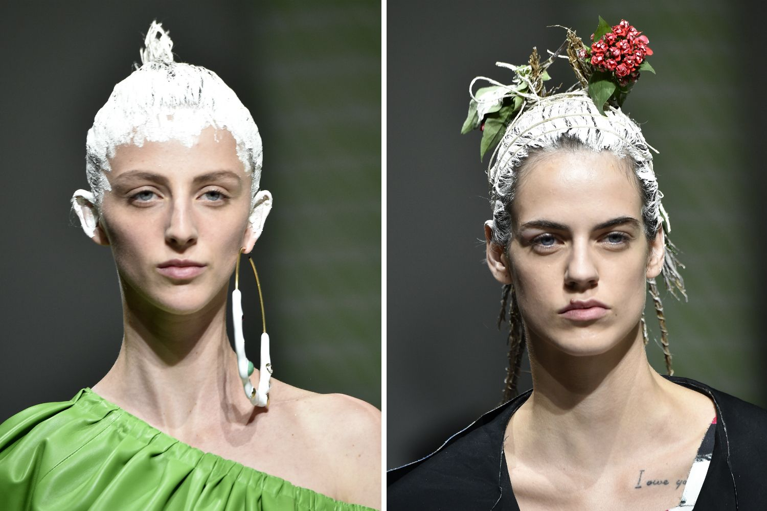 Painted hair is officially a thing thanks to Moschino, Marni and Matty Bovan spring/summer 2020