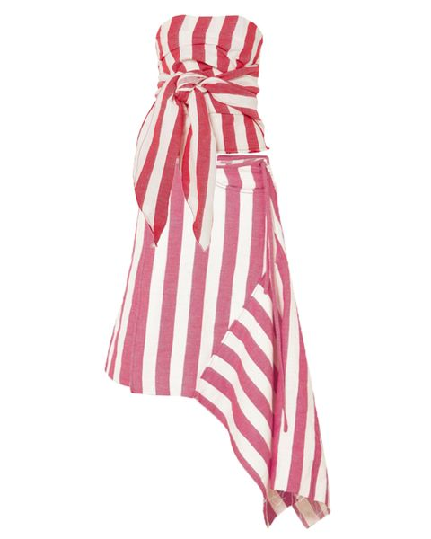 Marques Almeida bustier top  and asymmetric skirt