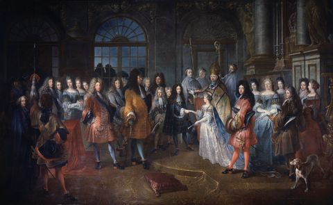 marriage of louis of france to princess marie adelaide of savoy by antoine dieu