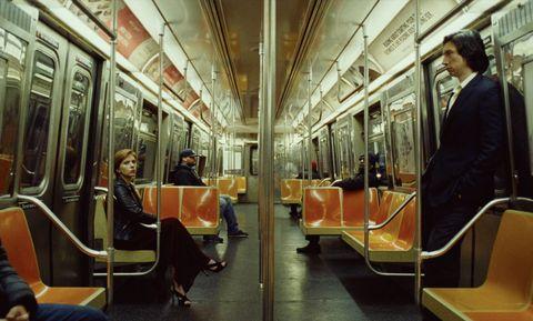 Transport, Public transport, Metro, Passenger, Vehicle, Interior design, Train, Sitting, Building,