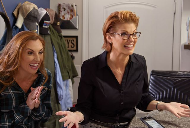 """marriage or mortgage l to r sarah miller and nichole holmes in episode """"a little bit classy and trashy"""" from marriage or mortgage cr courtesy of netflix©netflix 2021"""