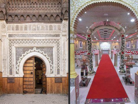 marruecos y un salón de boda marroquí