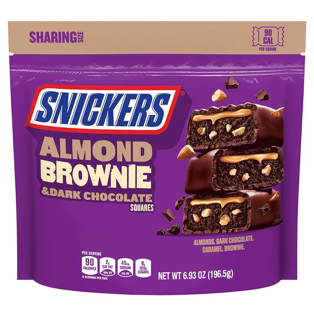 mars, incorporated snickers almond brownie squares