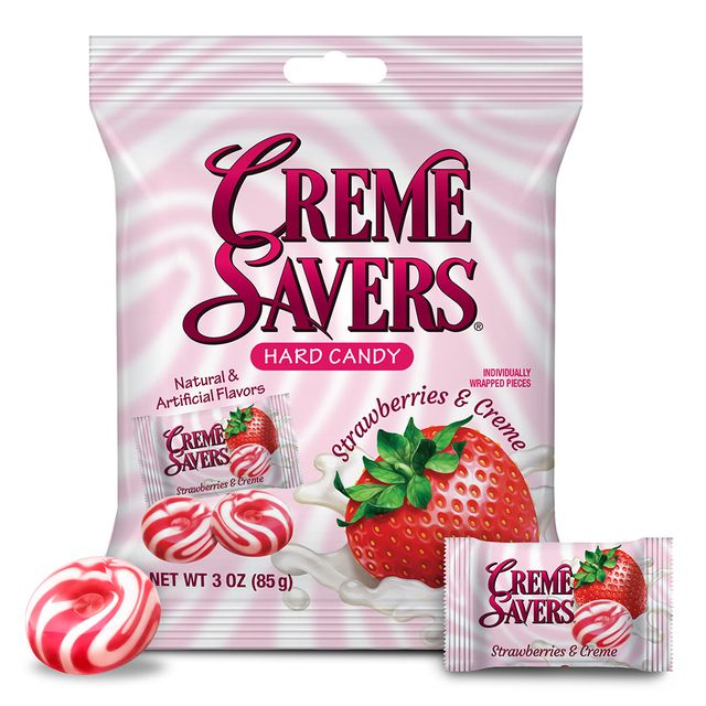 mars wrigley iconic candy creme savers strawberries and creme hard candies 2021