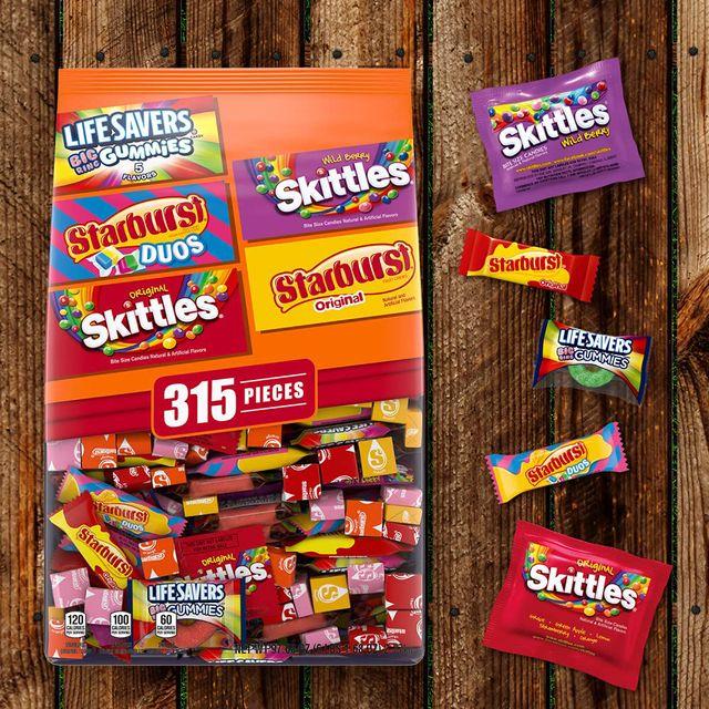 mars wrigley skittles starburst lifesavers halloween candy