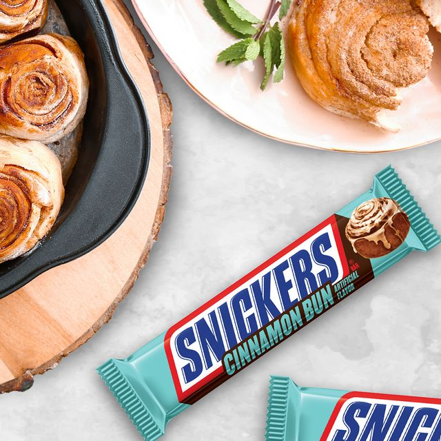 mars wrigley snickers cinnamon bun candy bar