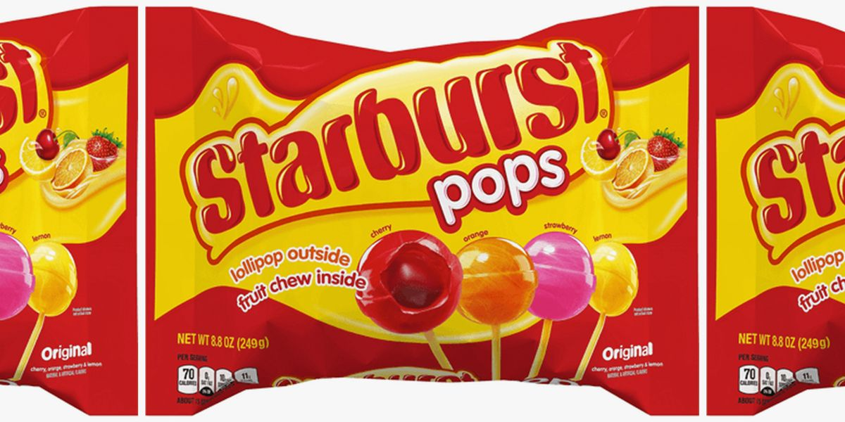 The New Starburst Pops Have A Lollipop Outside And Chewy, Fruity Center