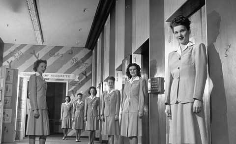 Photograph, Standing, Uniform, Snapshot, Black-and-white, Fashion, Vintage clothing, Photography, Monochrome, Style,