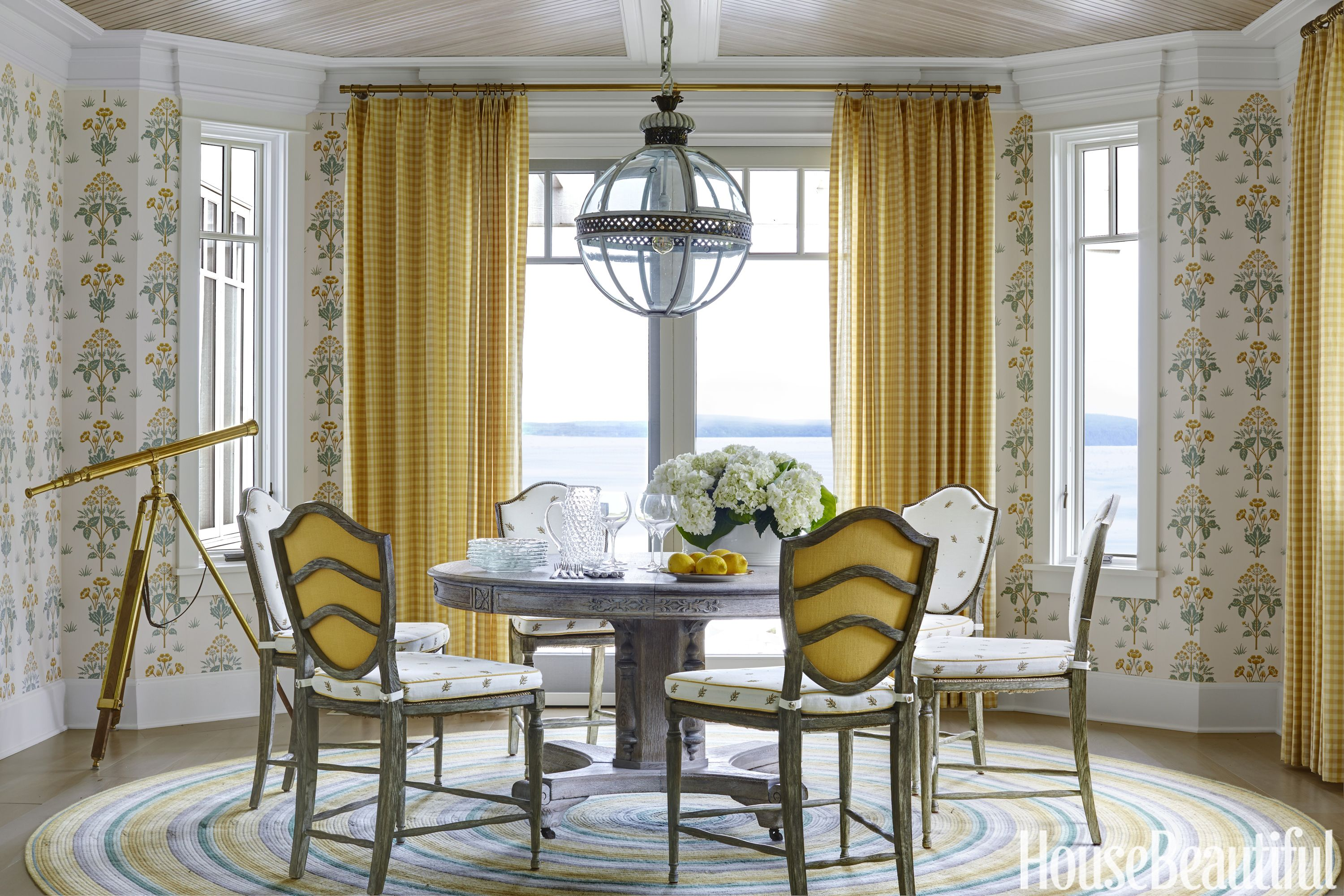Blues And Yellows Warm Up This Coupleu0027s Michigan Vacation Home   Take A  Look At This Northern European Inspired Vacation Home