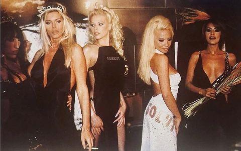 Fashion, Blond, Model, Fun, Dress, Fashion model, Event, Brown hair, Long hair, Style,
