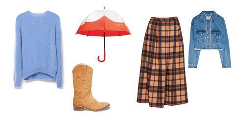 Plaid, Clothing, Pattern, Umbrella, Tartan, Fashion, Design, Outerwear, Footwear, Textile,