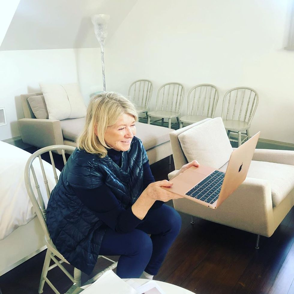 Martha Stewart, Like All of Us, Is Still Trying to Figure out How to Work From Home