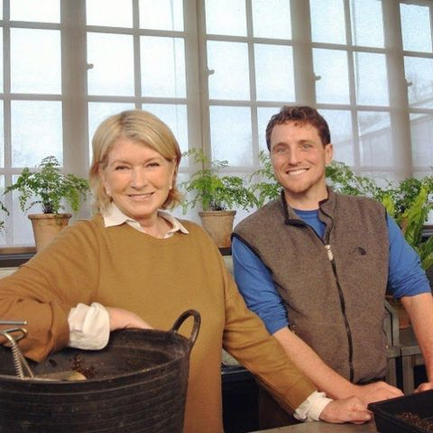 martha stewart with her gardener ryan mccallister