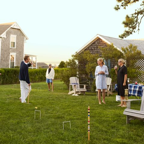 a kick back kind of cottage martha's vineyard retreat homeowners phoebe cole smith and mike smith lawn games