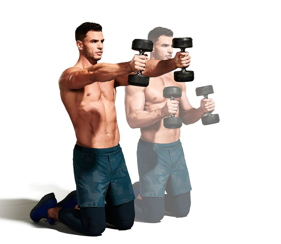 Entrenamiento con mancuernas para bajar de peso