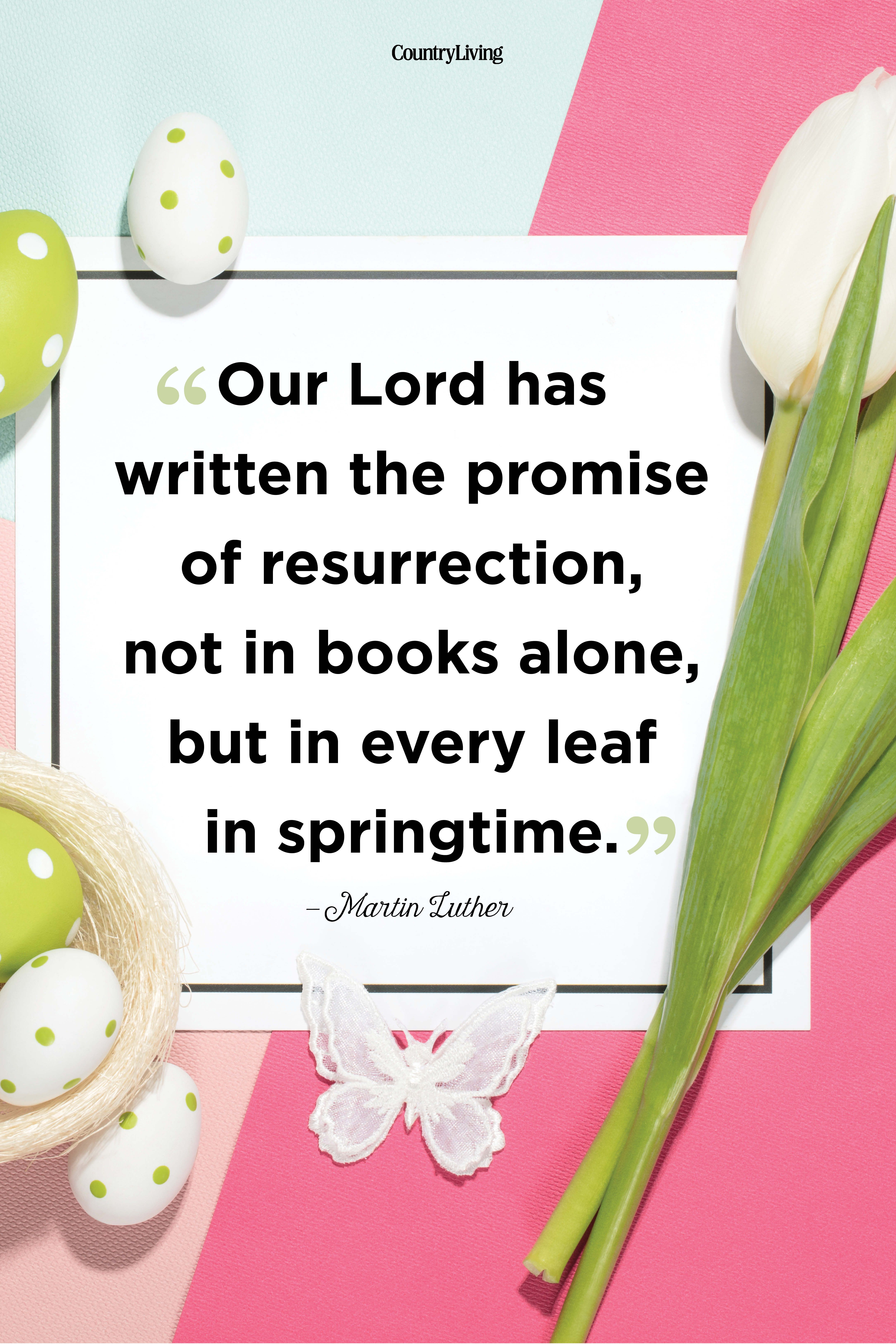 martin luther easter quote