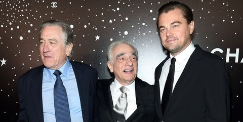 new york, ny   november 19 l r robert deniro, martin scorsese, and leonardo dicaprio attend the museum of modern art film benefit presented by chanel a tribute to martin scorsese on november 19, 2018 in new york city  photo by dimitrios kambourisgetty images for museum of modern art