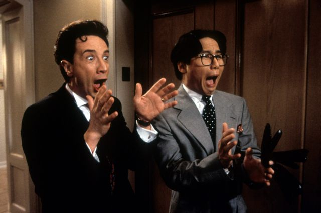 martin short and bd wong in 'father of the bride part ii'