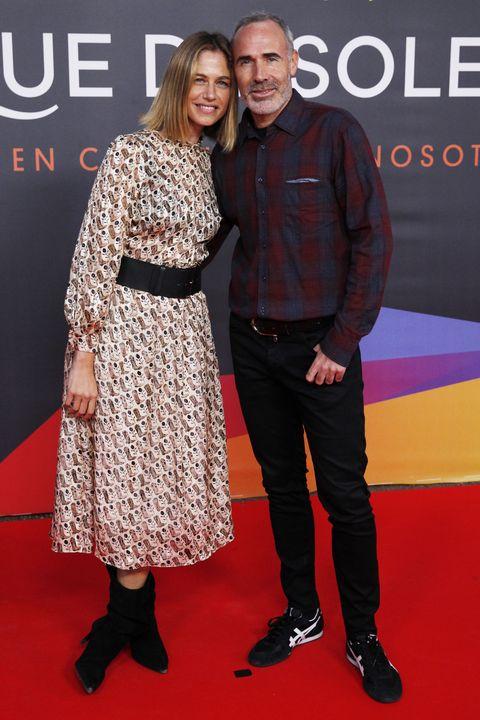 Martina Klein y Alex Corretja en el estreno de Leo Messi