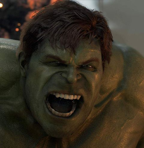 Hulk, Mouth, Fictional character, Human, Shout, Fiction, Wrinkle,