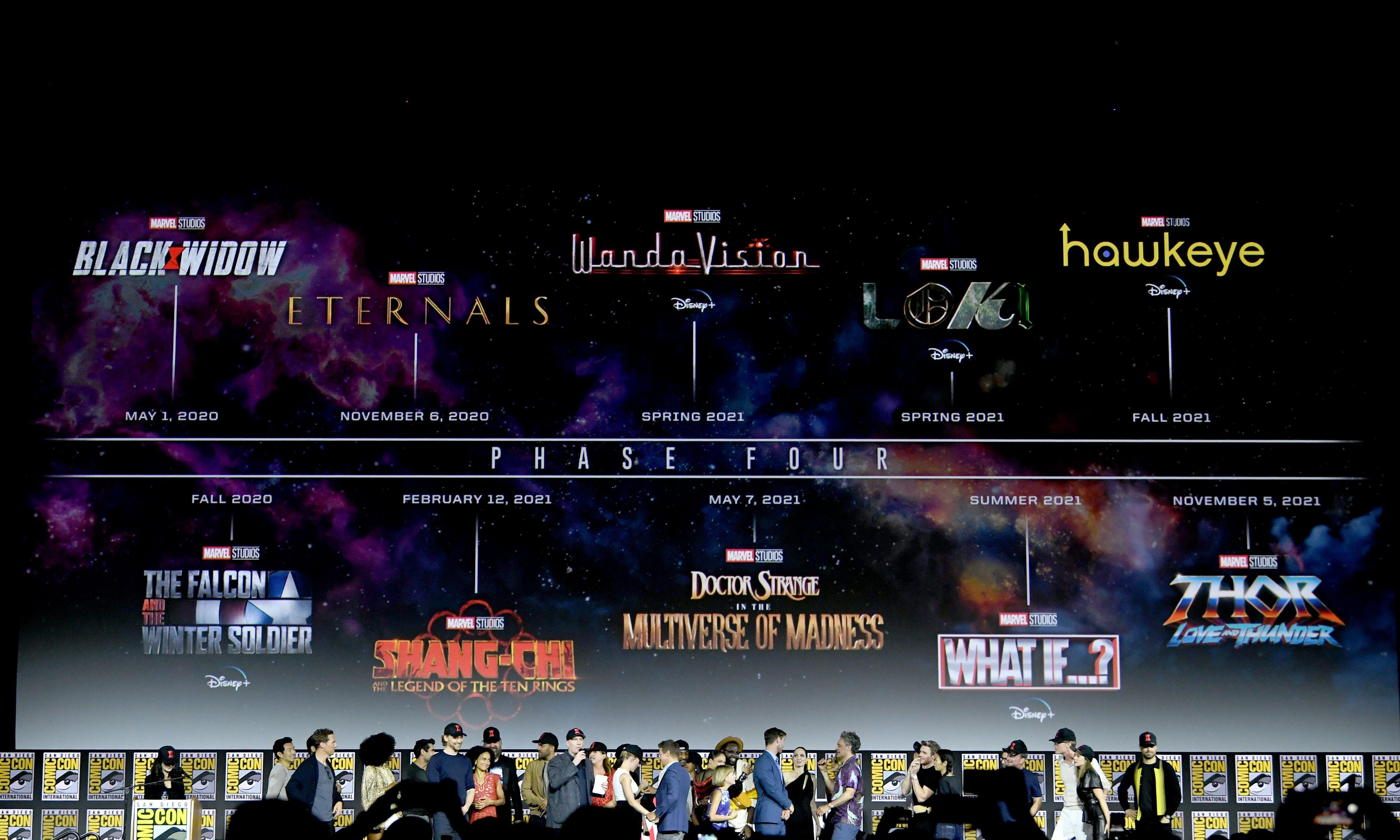 Marvel UCM Fase 4 Fechas de estreno