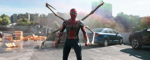 tom holland characterized as spiderman in the spiderman no way home trailer