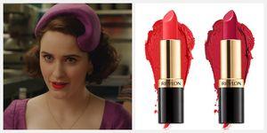 the marvelous mrs maisel revlon lipstick collaboration midge maisel