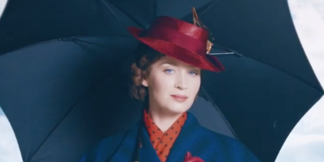 Footage of Emily Blunt in Mary Poppins Returns has arrived
