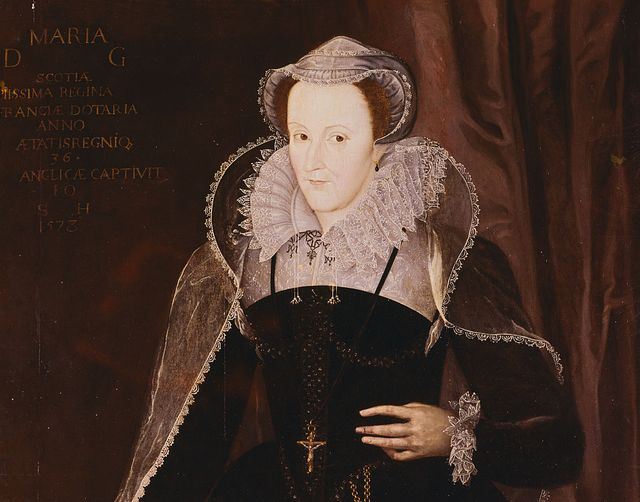 mary, queen of scots painted in the style of nicholas hilliard