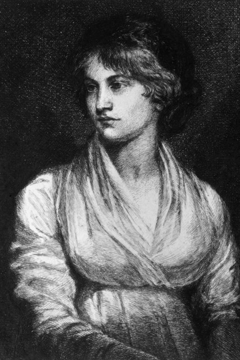 circa 1797  english feminist writer mary wollstonecraft godwin 1759   1797, author of 'a vindication of the rights of woman' and mother of mary wollstonecraft shelley  a drawing by a s merritt after the painting by opie  photo by hulton archivegetty images