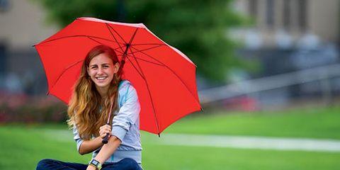 Mary Cain with Umbrella