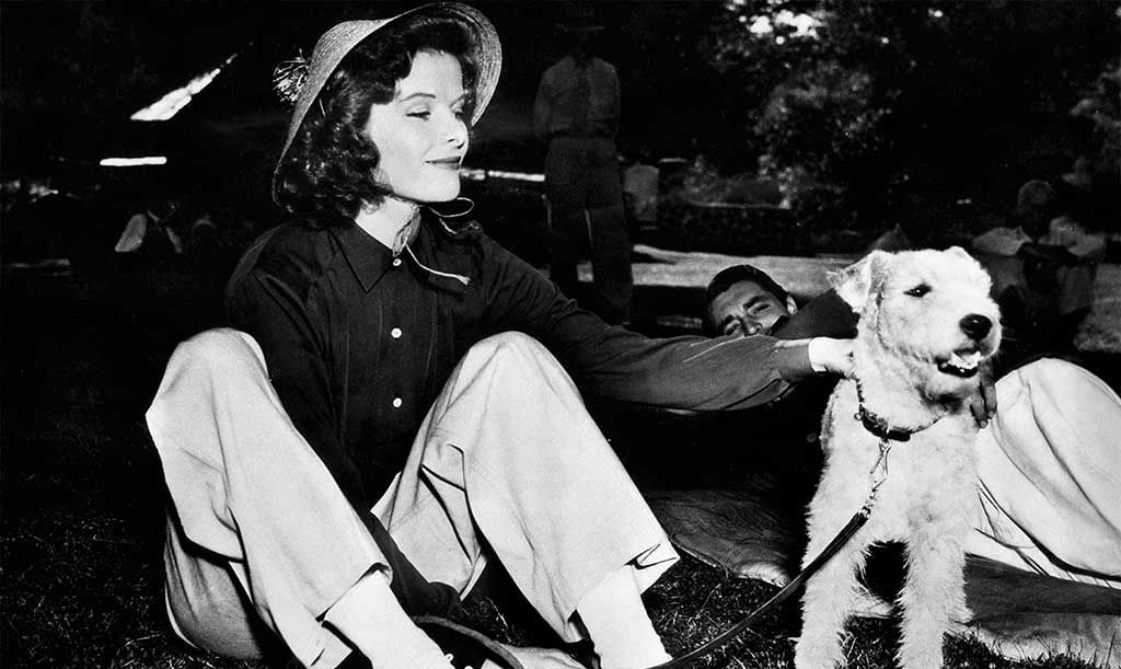 Katharine Hepburn y Cary Grant en 'La fiera de mi niña' (Howard Hawks,1938)