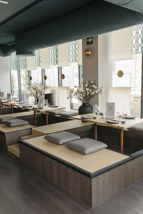 Furniture, Room, Interior design, Floor, Table, Countertop, Building, Architecture, Living room, Design,