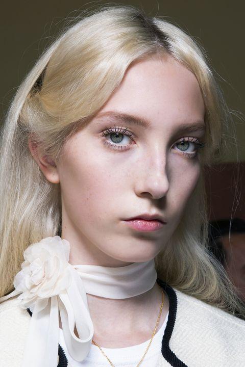 Hair, Face, Blond, Eyebrow, Hairstyle, Lip, Chin, Beauty, Fashion, Cheek,