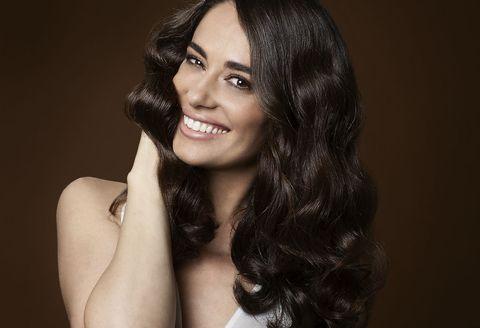 Hair, Face, Lip, Hairstyle, Eyebrow, Beauty, Black hair, Skin, Long hair, Head,