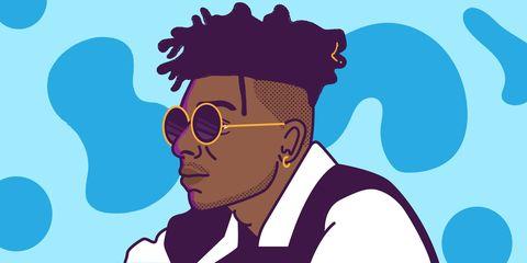 Hair, Eyewear, Afro, Cartoon, Hairstyle, Cool, Illustration, Glasses, Fun, Animation,