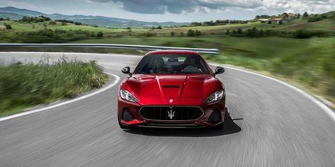 Mode of transport, Automotive design, Road, Vehicle, Land vehicle, Performance car, Car, Red, Asphalt, Hood,