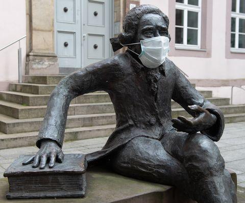 Coronavirus - Georg Christoph Lichtenberg with face mask