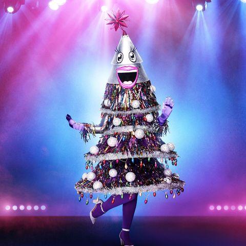 Christmas tree, Tree, Purple, Christmas decoration, Sky, Violet, Pink, Light, Christmas, Woody plant,